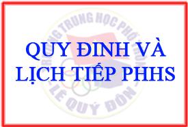 Quy định và lịch tiếp PHHS của P.Giáo vụ