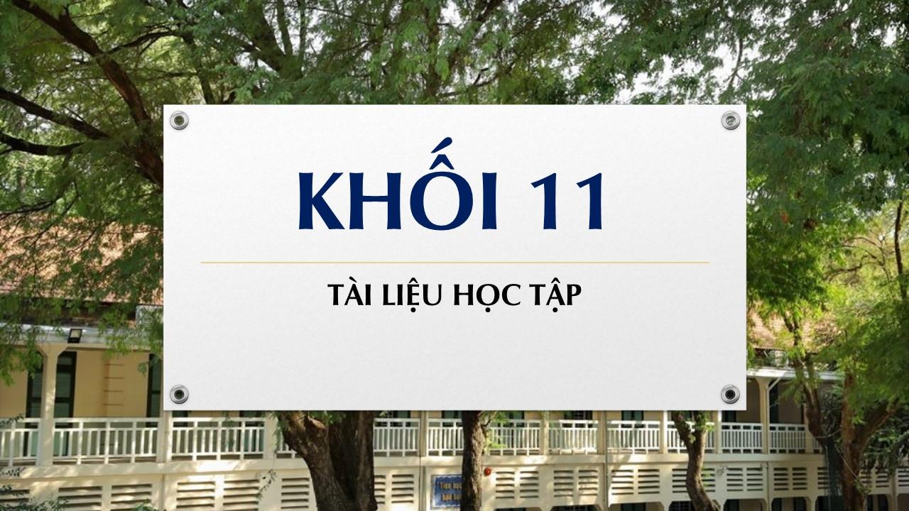 Tài liệu học tập môn Hoá khối 11